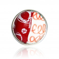 Red and white ring with circles and spirals