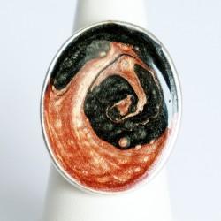 copy of Blue and orange swirl costume ring