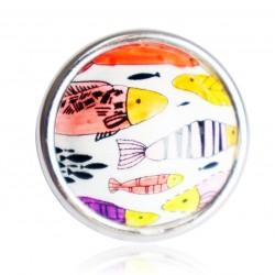 Bague poissons multicolores