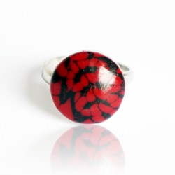 copy of Red and black lace ring
