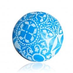 Bague bleue et blanche avec des motifs azulejos