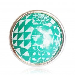 Large, green azulejos ring