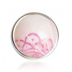 Large round pink adjustable ring