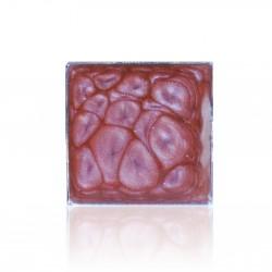 """Bague carrée rose effet """"cellules"""""""