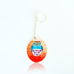 copy of Purple owl keyring