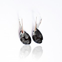 copy of Clear Swarovski crystal and silver earrings