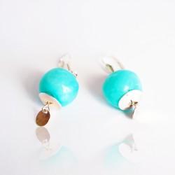 Boucles d'oreilles turquoises et argent