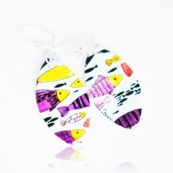 Multicolored fish earrings