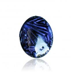 Dark purple embossed ring