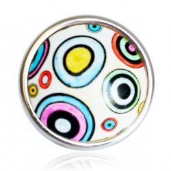 Grande bague avec des cercles multicolores