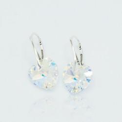 Boucles d'oreilles coeurs transparents