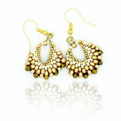 Boucles d'oreilles dorées en perles