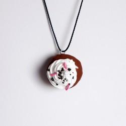 Pendentif gourmand cupcake
