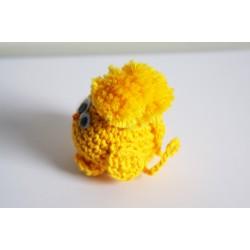 Bijou de sac - Piou-piou jaune avec attache sur la tête
