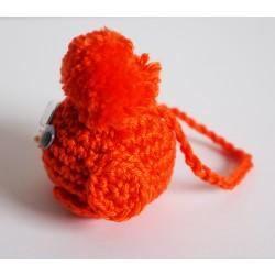 Piou-piou orange (oiseau) bijou de sac