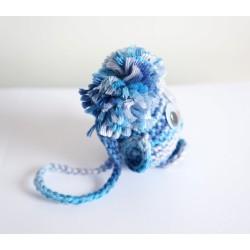 Amigurumi petit oiseau bleu