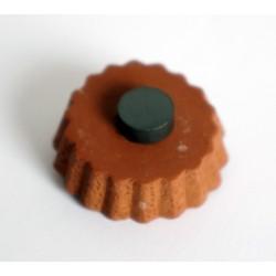 Magnet tarte aux fruits avec chantilly et coulis fraise